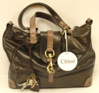 Chloè Woman Bitumen Kerala Leater Hand Bag
