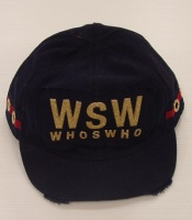 Moschino Blue Unisex Emblem WSW Hat  With Visor