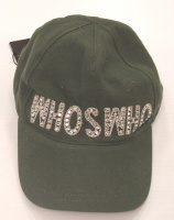 Moschino Military Green Unisex Emblem WSW Hat  With Visor